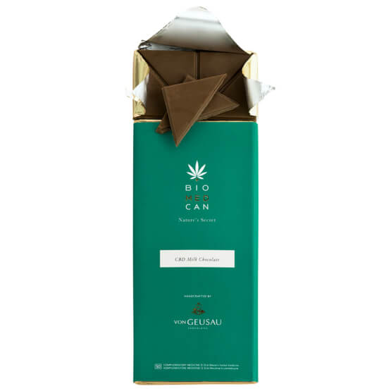 Open BIOMEDCAN milk chocolate with pieces