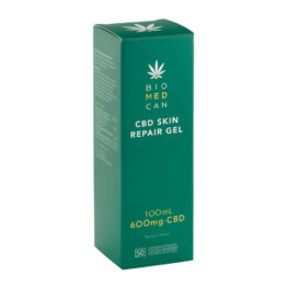 Biomedcan CBD Skin Repair Gel front box